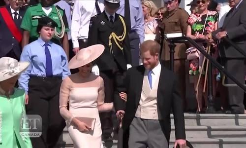 哈利和他的妻子参加了婚礼后的第一次皇室活动