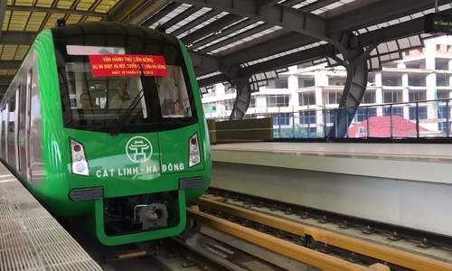 Cat Linh  -  Ha Dong火车运行