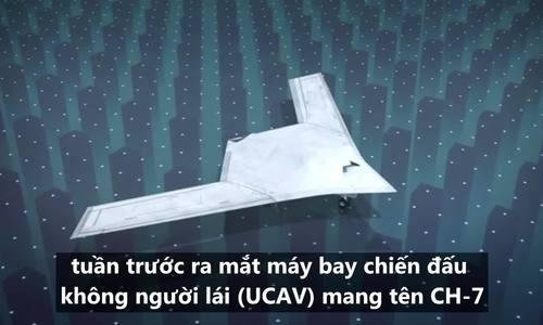 中国无人机模型的翼展比战斗机大