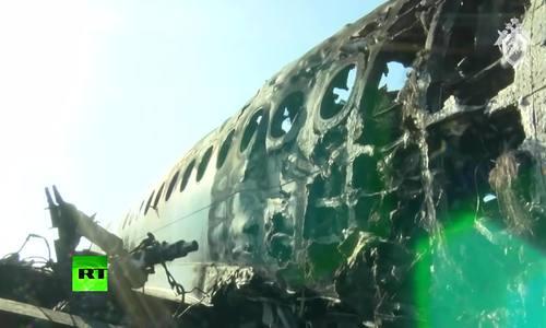 事故发生后,俄罗斯飞机失事黑