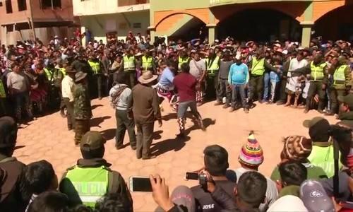 在玻利维亚的血腥战斗节