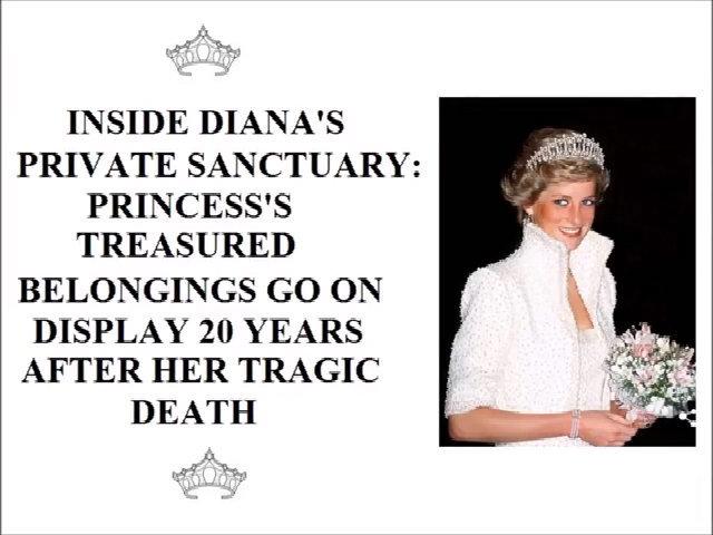 Mở cửa căn phòng riêng tư của công nương Diana