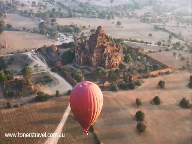 Trải nghiệm bay khinh khí cầu trên Bagan