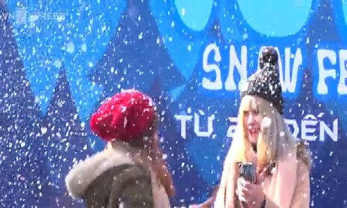 Tuyết 'nhân tạo' rơi ở Sapa khiến du khách ngỡ nhưở ChâuÂu