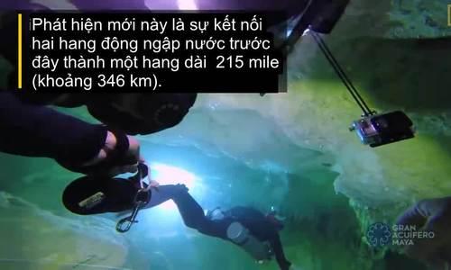 Hang động dưới nước dài nhất thế giới ở Mexico