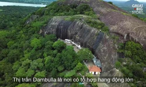 Khu đền chứa toàn tượng Phật dát vàng ở Sri Lanka
