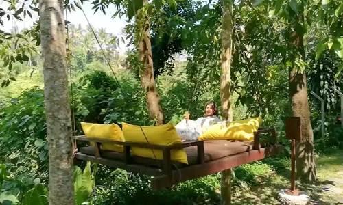 Resort cao cấp có giường ngủ lửng lơ giữa rừng Bali