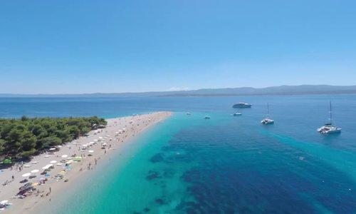 Bãi biển có khả năng biến hình ngay trước mắt du khách ở Croatia