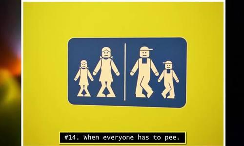 Tấm biển toilet khiến chàng trai Đài Loan bối rối, không dám vào