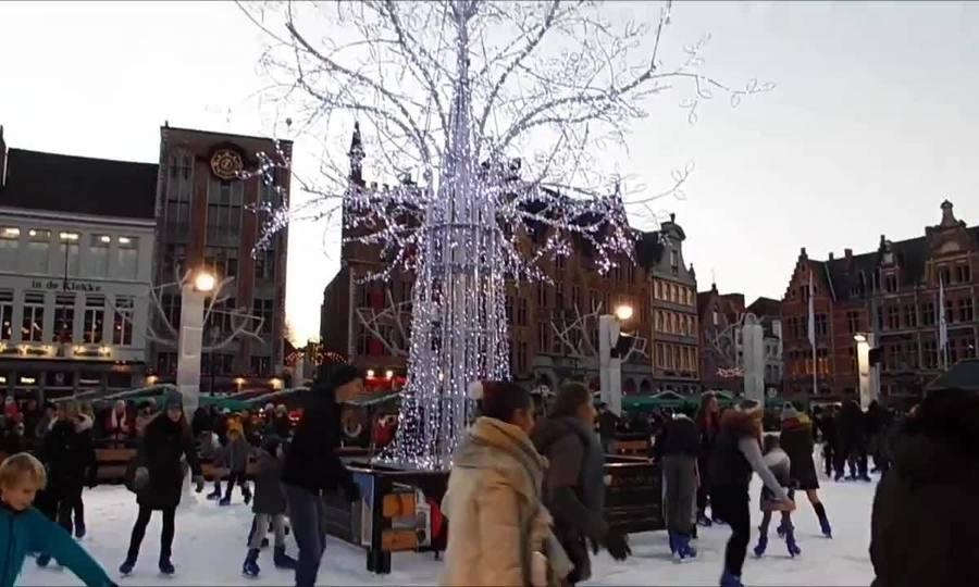 Chợ giáng sinh ở Bruges, Bỉ