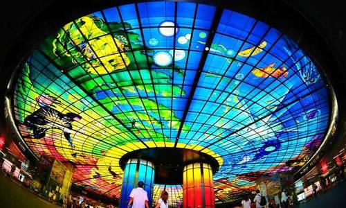 Ga tàu điện ngầm vòm kính lớn nhất thế giới ở Đài Loan - ảnh 1