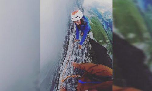 Cảm giác chóng mặt trên đỉnh núi 'mảnh như lưỡi dao' ở Thụy Sĩ