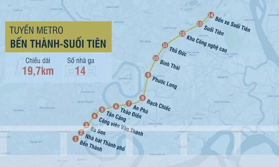 Khám phá TP HCM qua tuyến Metro Số 1