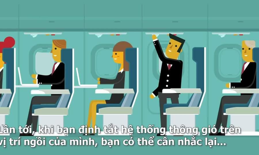 Tại sao không nên đóng nắp điều hoà trên máy bay?