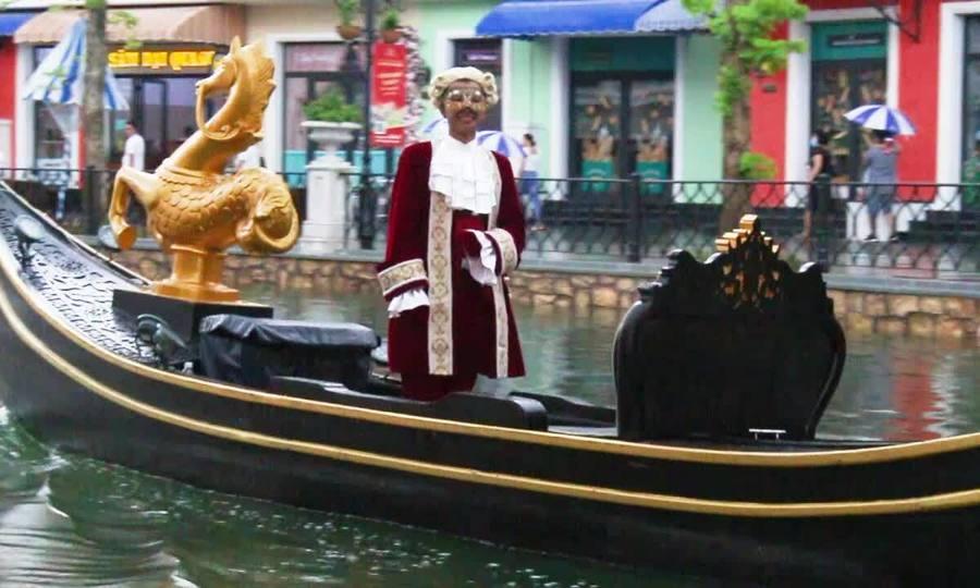 Venice style gondola cruise in Phu Quoc