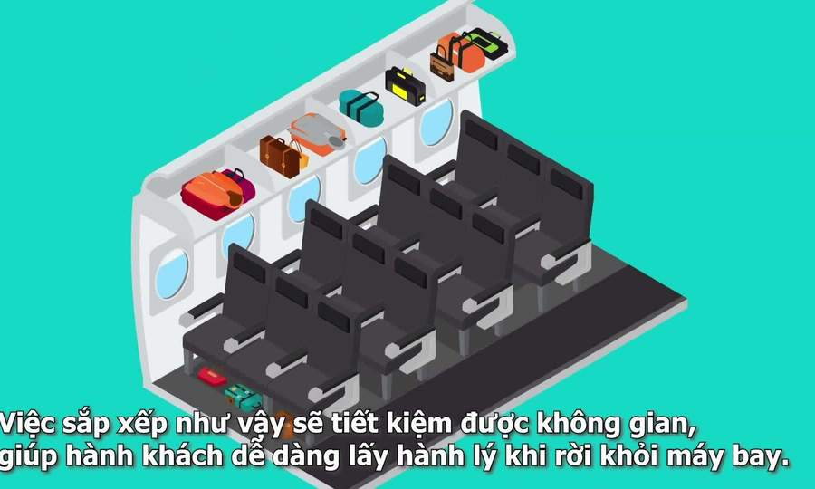 Cách xếp hành lý xách tay đúng cách trên máy bay
