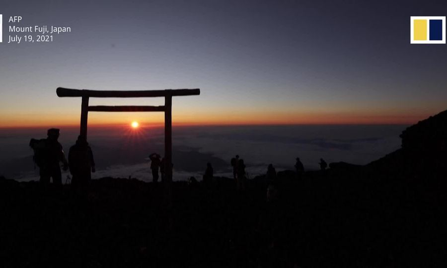 Bình minh trên những tầng mây ở Phú Sĩ