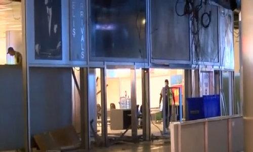 Workers start repairs at Ataturk airport