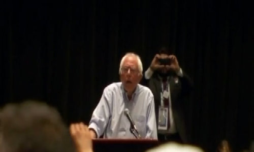 Sanders booed as he calls for support of Clinton and Kaine