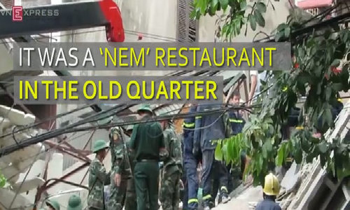 Old restaurant collapses in Hanoi, killing 2
