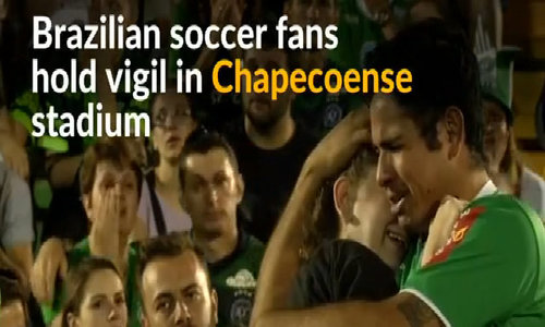 Brazilian soccer fans mourn Chapecoense air crash victims