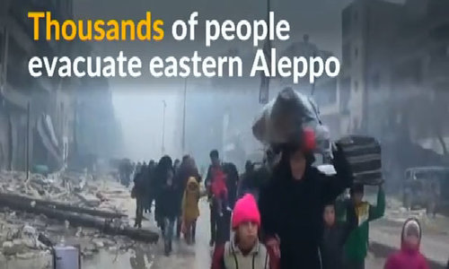 Civilians flee eastern Aleppo in search of safer locations