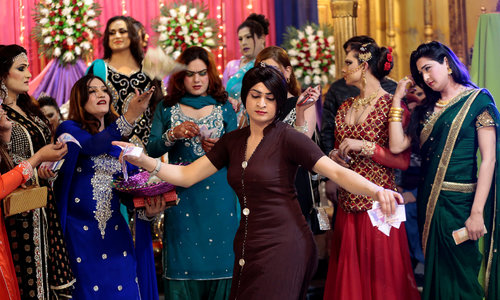 Pakistan's transgender community holds rare party under police guard