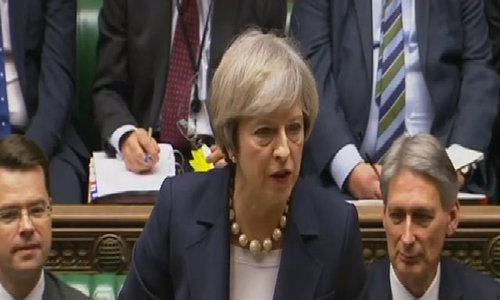 White House investigates leaks of TruUK PM May: We had no prior warning of Trump travel banmp calls