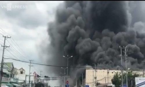 Huge fire engulfs Taiwanese garment factory in southern Vietnam