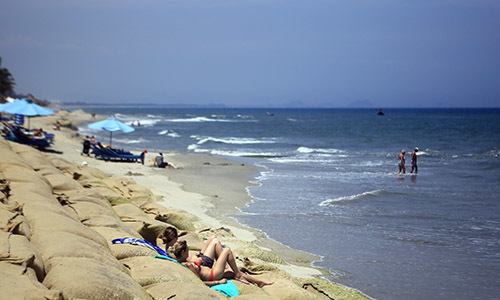 Sunny and sandy again: Hoi An's famous beach recovers from erosion