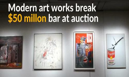 Modern art pieces fetch near 0 million at Christie's auction