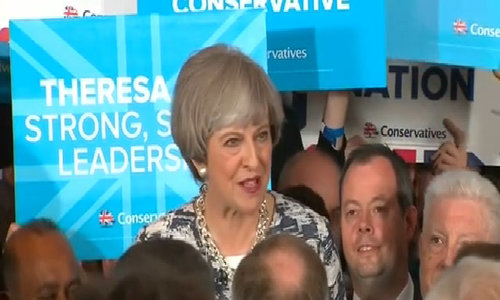On eve of election, May tries to put focus back on Brexit