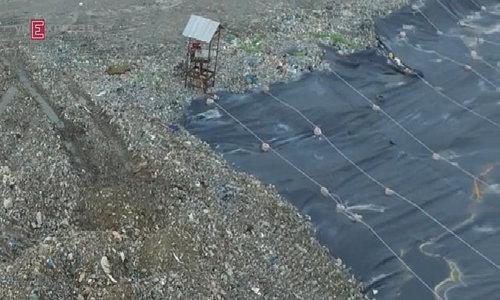 Saigon's main landfill Da Phuoc from above