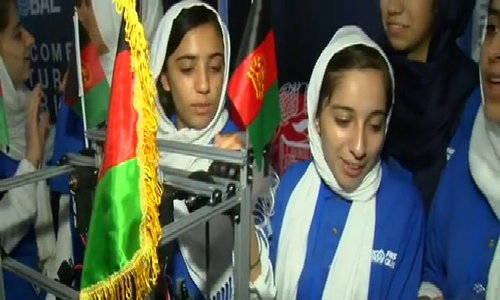 All-girl Afghan robotics team in U.S. after visa hurdles