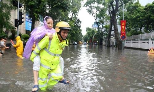Storm Talas leaves Hanoi floundering after heavy rainfall