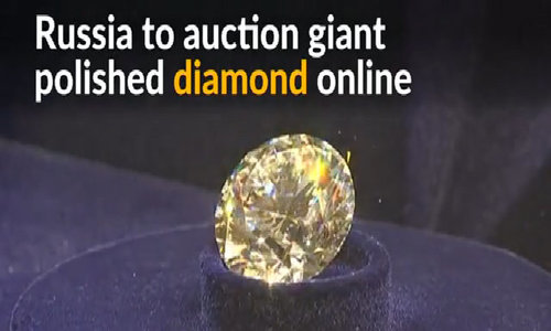 Russia unveils giant 51-carat polished diamond for online auction