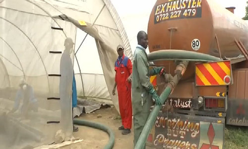 Human waste becomes fuel for Kenya's urban poor