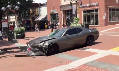 Video shows car plowing into crowd at white nationalist protest