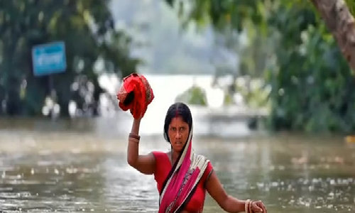 Far from Texas, Indian floods kill 500