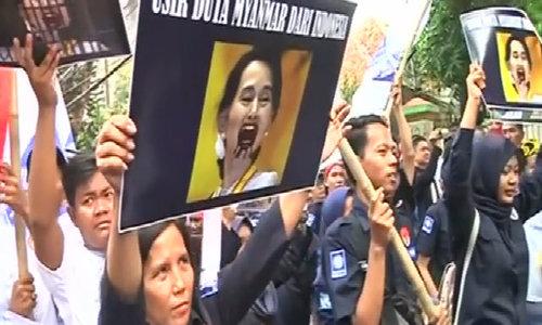 Growing pressure for Suu Kyi as Myanmar violence swells
