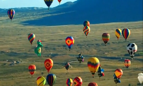 Hot air balloons fill the sky at New Mexico festival