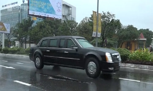 U.S. vehicle fleet arrives in Da Nang for APEC
