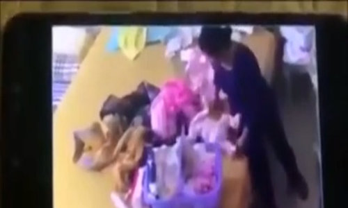 Disturbing video shows violent slapping of infant in Vietnam