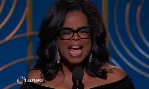 Oprah awards speech sparks talk of White House run