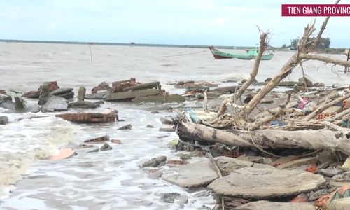 That sinking feeling again: Erosion exacts more toll in Vietnam's Mekong Delta