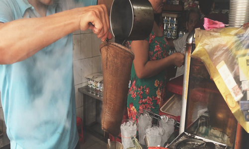 Racket coffee. It's not rocket science.