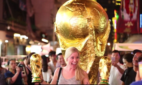You can raise the World Cup trophy from the middle of Saigon
