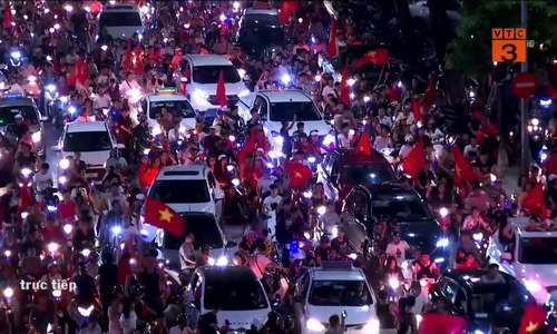 Fans across Vietnam storm streets to celebrate victory over Syria in Asiad quarters