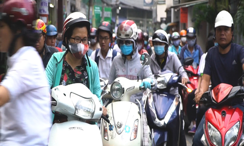 The jammed megacity: Here is how Ho Chi Minh City's rush hour nightmare looks like