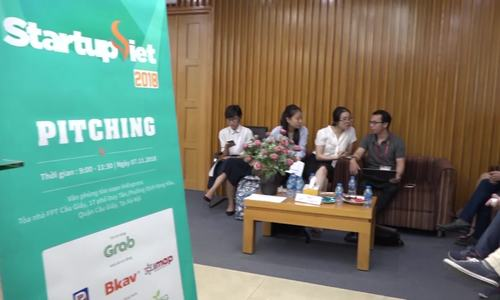 Top 15 startup of 'Startup Viet 2018' contest pitching